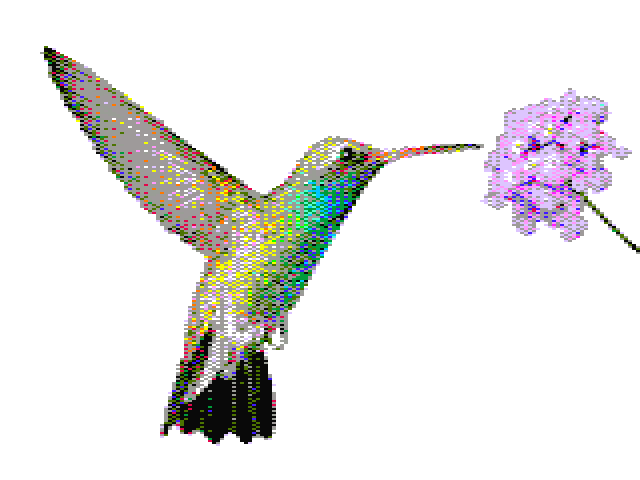 160x200, 16 colors, ordered dither