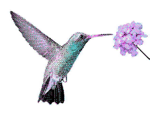 320x200, 4 colors, palette 1, ordered dither